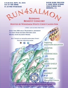 RUN4SALMON  Benefit Concert!  Co-sponsored by Northstate Youth and Native Cultural Groups!