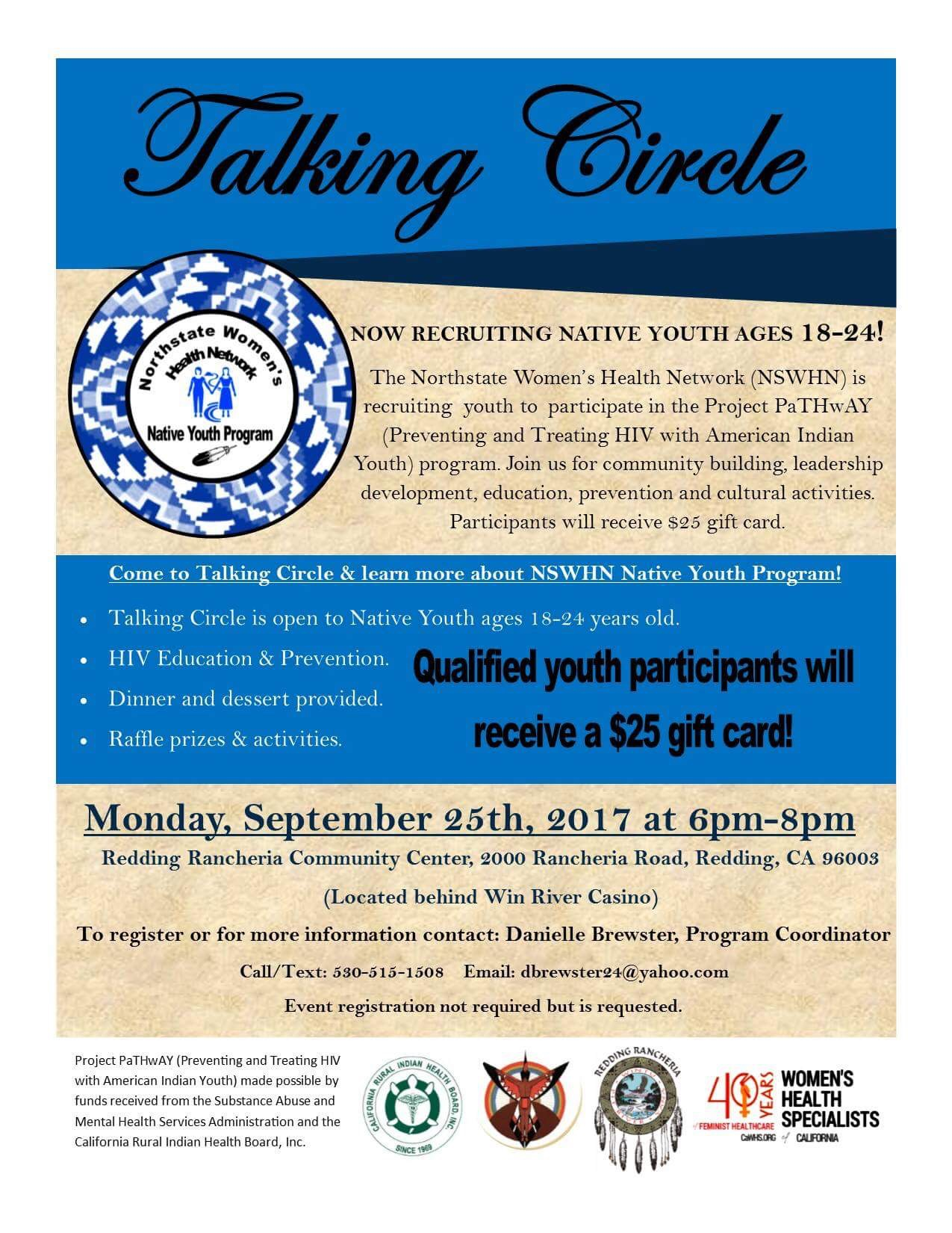 Native Youth Talking Circle September 25 2017 Northstate